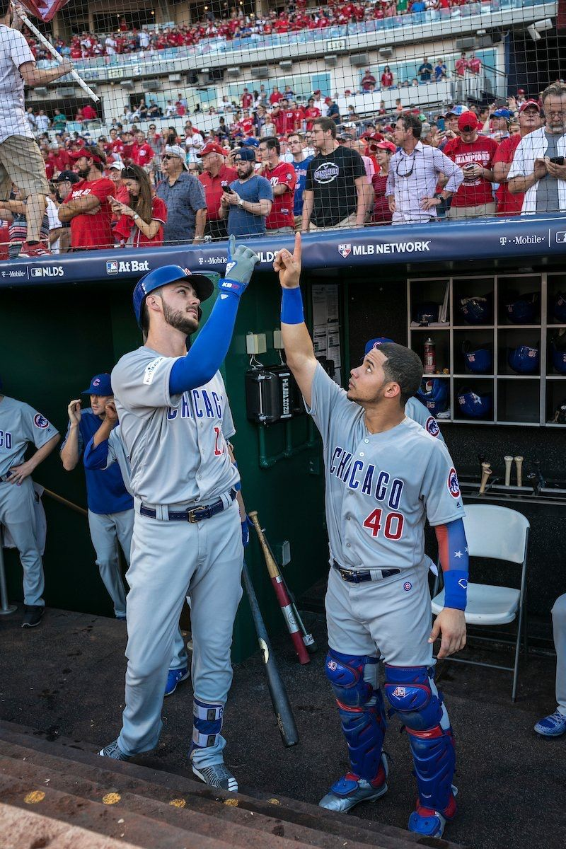 Height difference lmao Chicago cubs baseball
