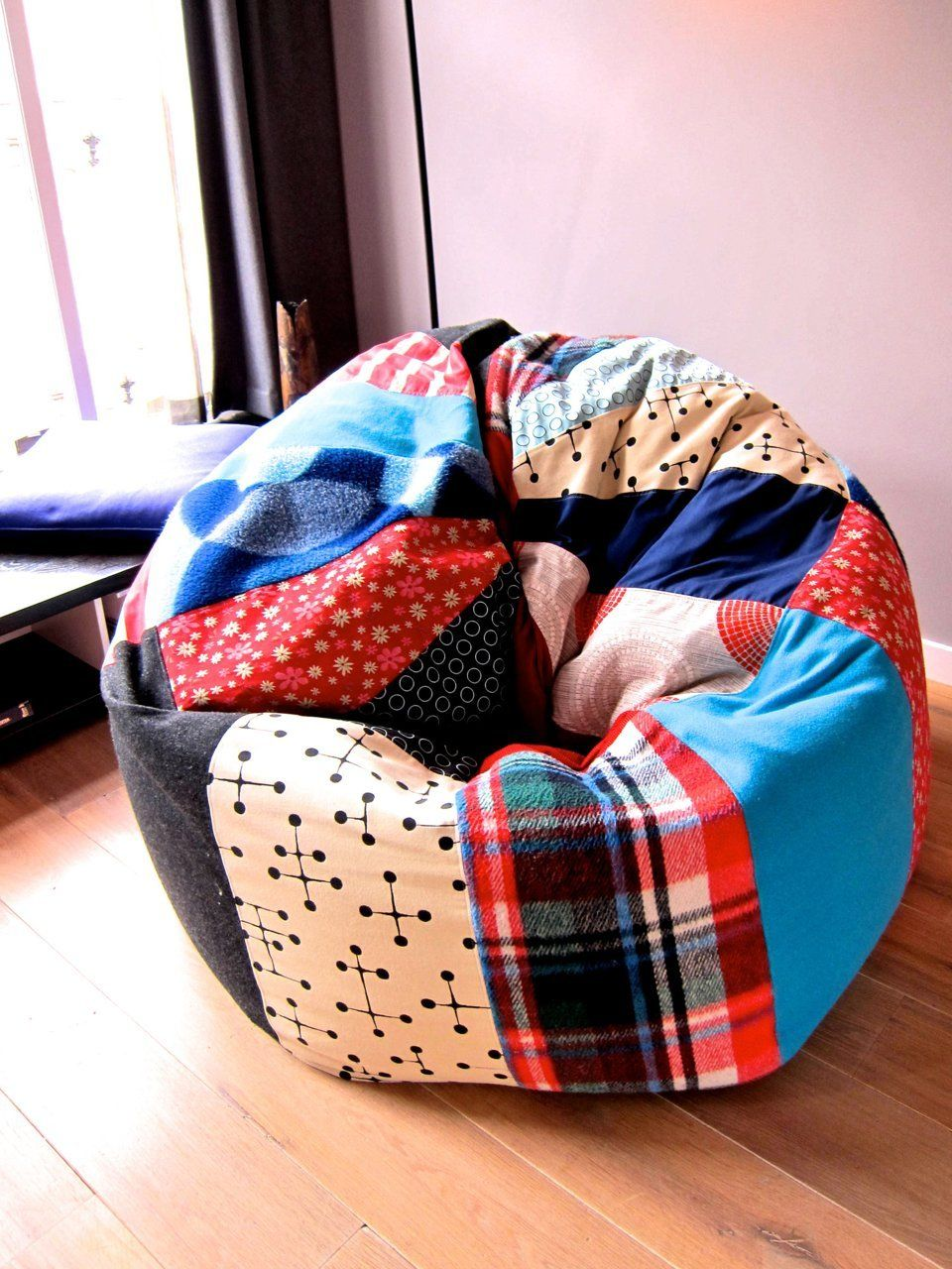 AT Maria Erics Creative Comfortable Home In Amsterdam Quilted Bean Bag Chair