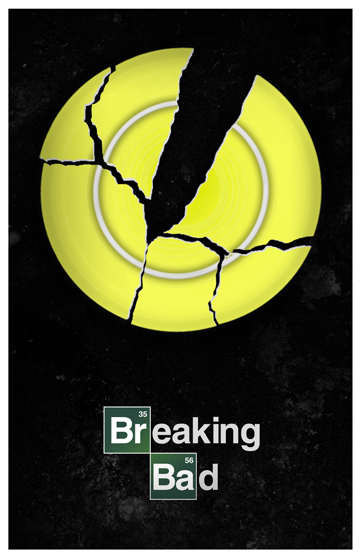 A Series Of Posters Featuring Pivotal Centerpieces From Amc S Breaking Bad Tv Show Breaking Bad Breaking Bad Poster Bad