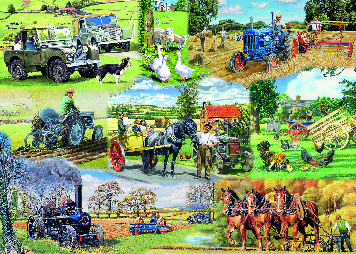 Farming Legends Puzzle  #jigsaw #puzzle #christmas #xmas #gifts #grandparents #children #fun #family #hobby #gibsons