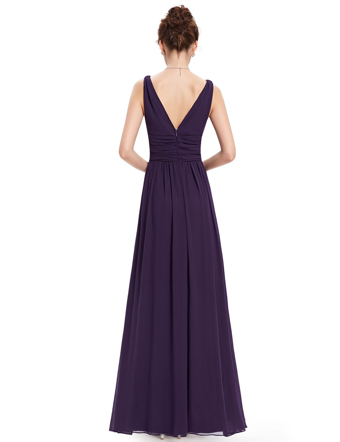 bae2fca87dc Ever-Pretty Women s Sexy Long Sleeveless Bridal Party Dresses for Women  09016 (Purple 16 US) Long