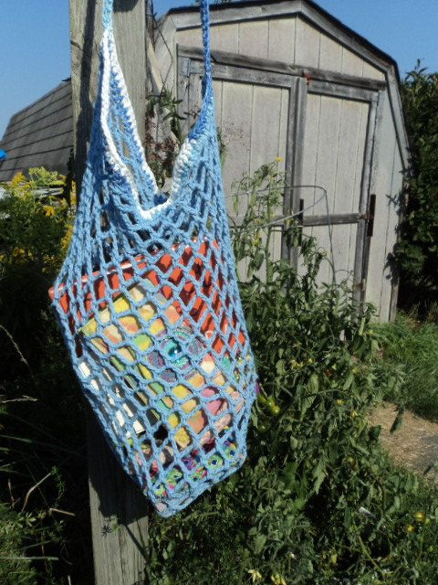 String Crochet Market Tote Bag. $12.00, via Etsy.