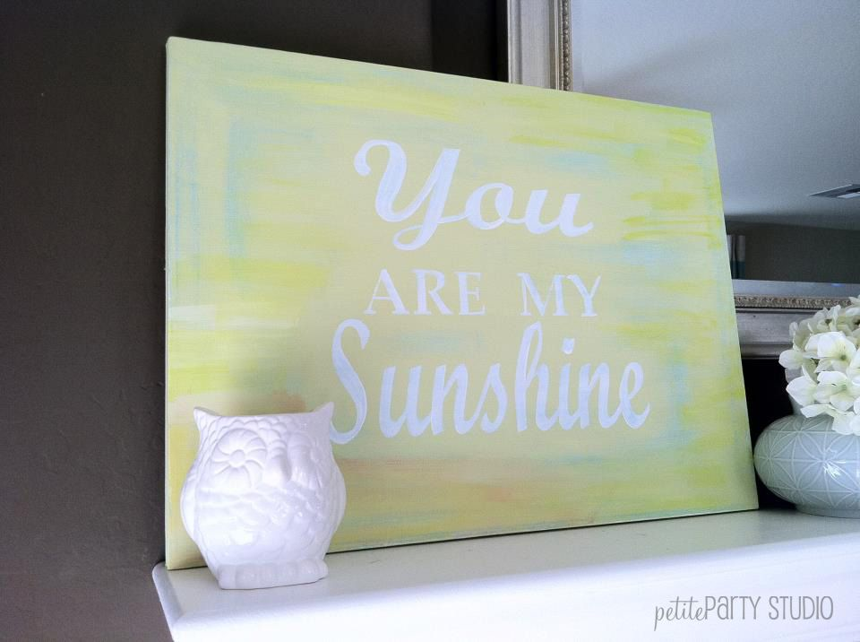 DIY painted canvas art with vinyl lettering cut from a Silhouette #DIY #canvas #art #silhouette