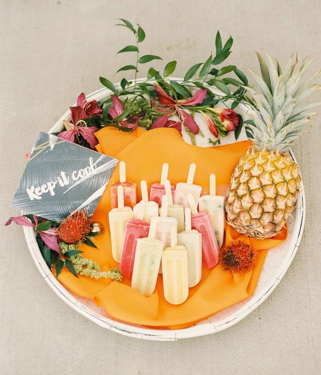 Tropical popsicles for dessert