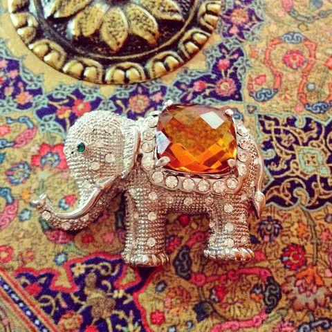 Maharaja Elephant Brooch