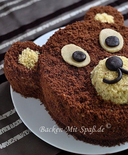 Bären- Torte   Bär kuchen, Kuchen und torten und Kuchen