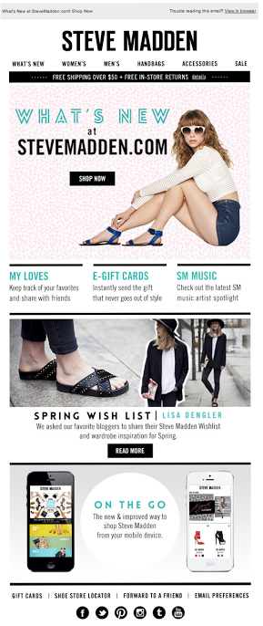 Steve Madden  | welcome | WelcomeEmails | emailmarketing | email | newsletter | welcome newsletter | welcome email | WelcomeEmail | relationship emails | emailDesign