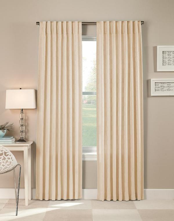 Cream Colored Grommet Curtains