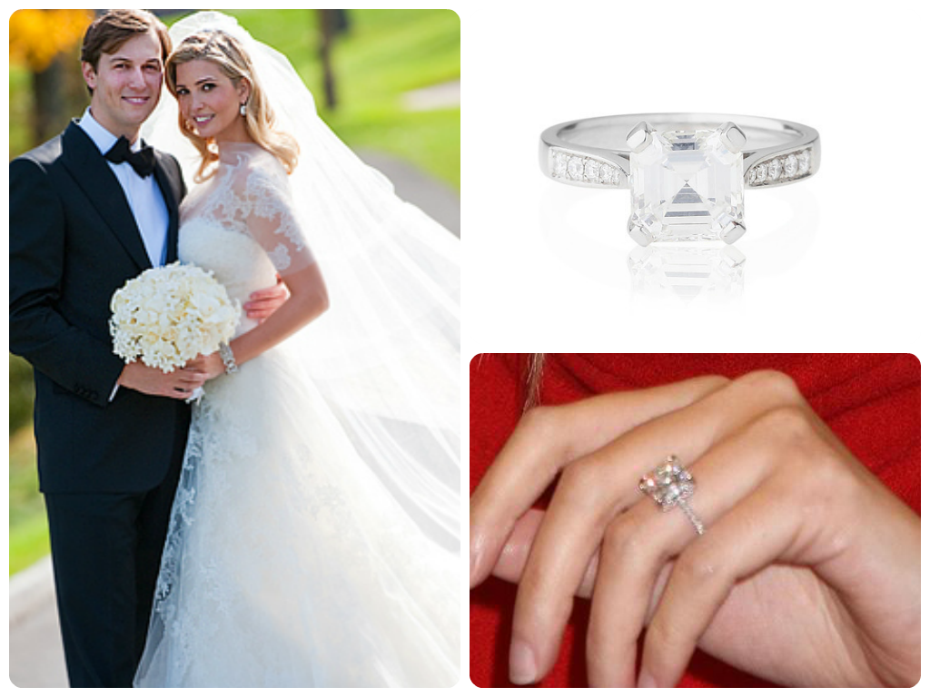 Ivanka Trump Received A Stunning 5carat Cushion Cut Diamond Engagement Ring  With Pave Settings From Now