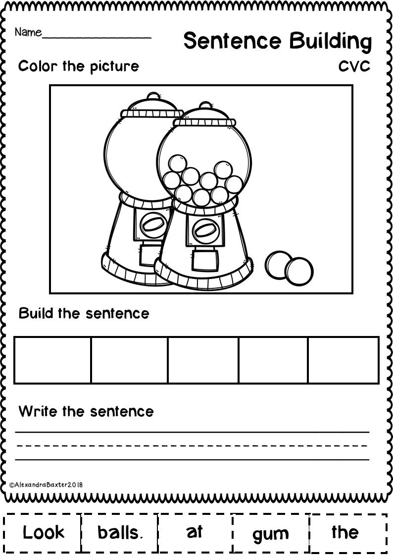sentence building worksheets set 1 school sentence building sentence writing literacy. Black Bedroom Furniture Sets. Home Design Ideas