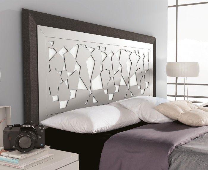 Cabecero de cama de diseño original. Colores Ceniza/Blanco Poro ...