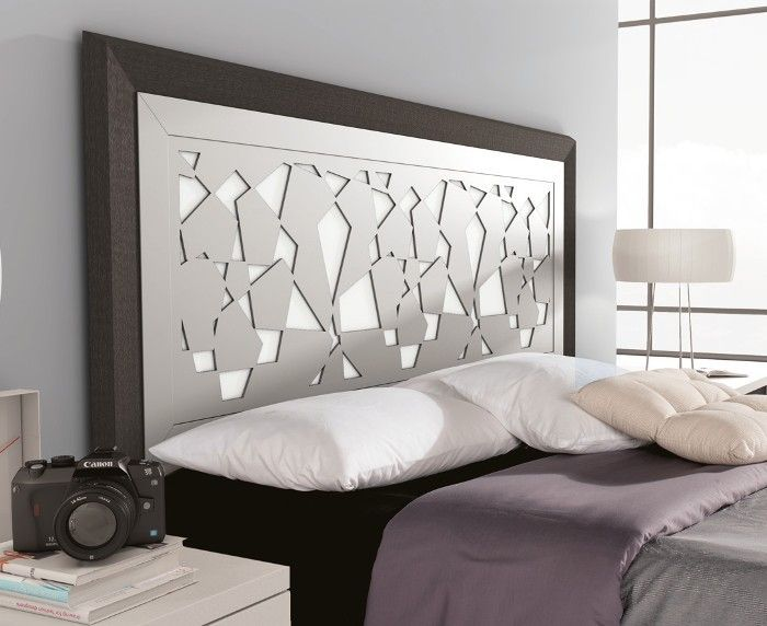Cabecero de cama de dise o original colores ceniza blanco - Cabecero cama blanco ...