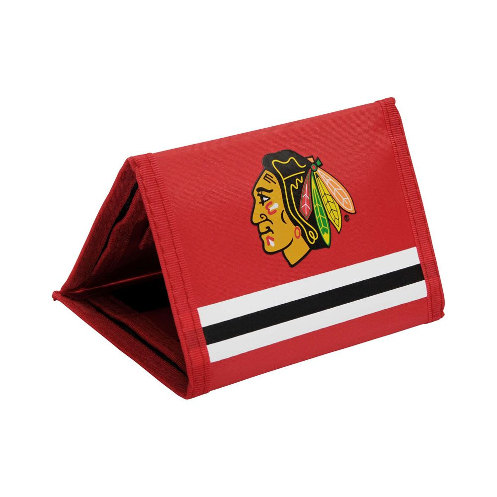 Chicago Blackhawks Tri fold Wallet | Chicago Blackhawks | Pinterest