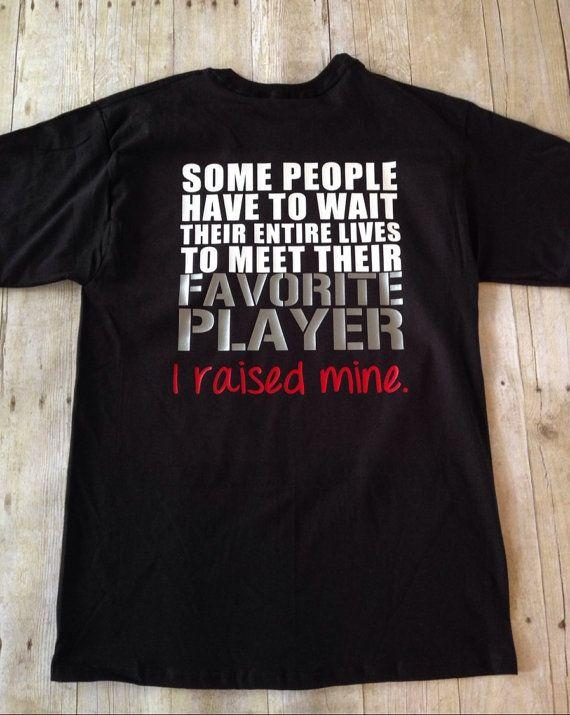 Favorite Athlete Player I Raised Mine T-Shirt Football Baseball Soccer Basketball Volleyball Wrestling Sports Mom Shirt