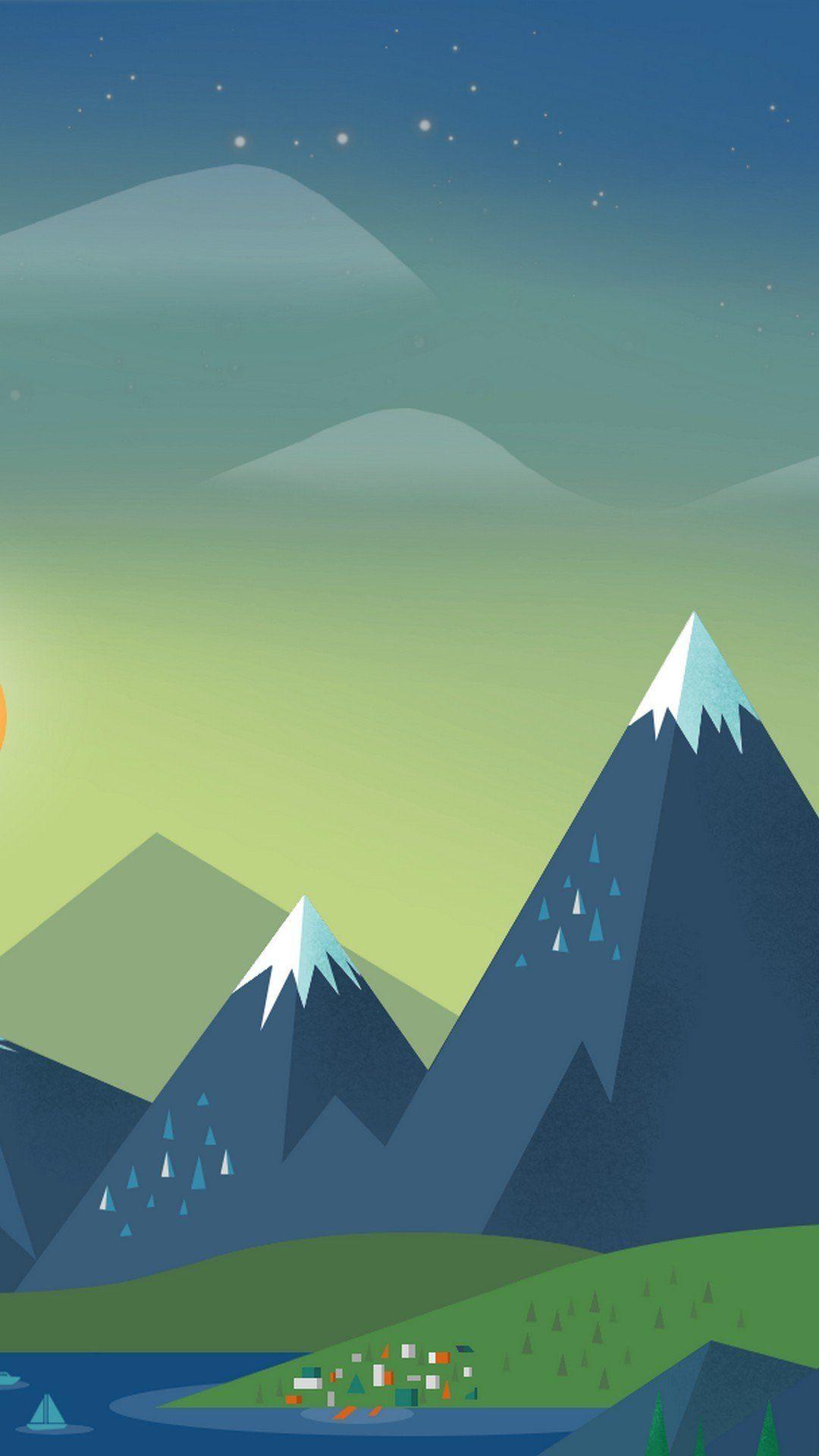 Evening Mountain Ice Mobile Wallpaper Mobile Wallpaper