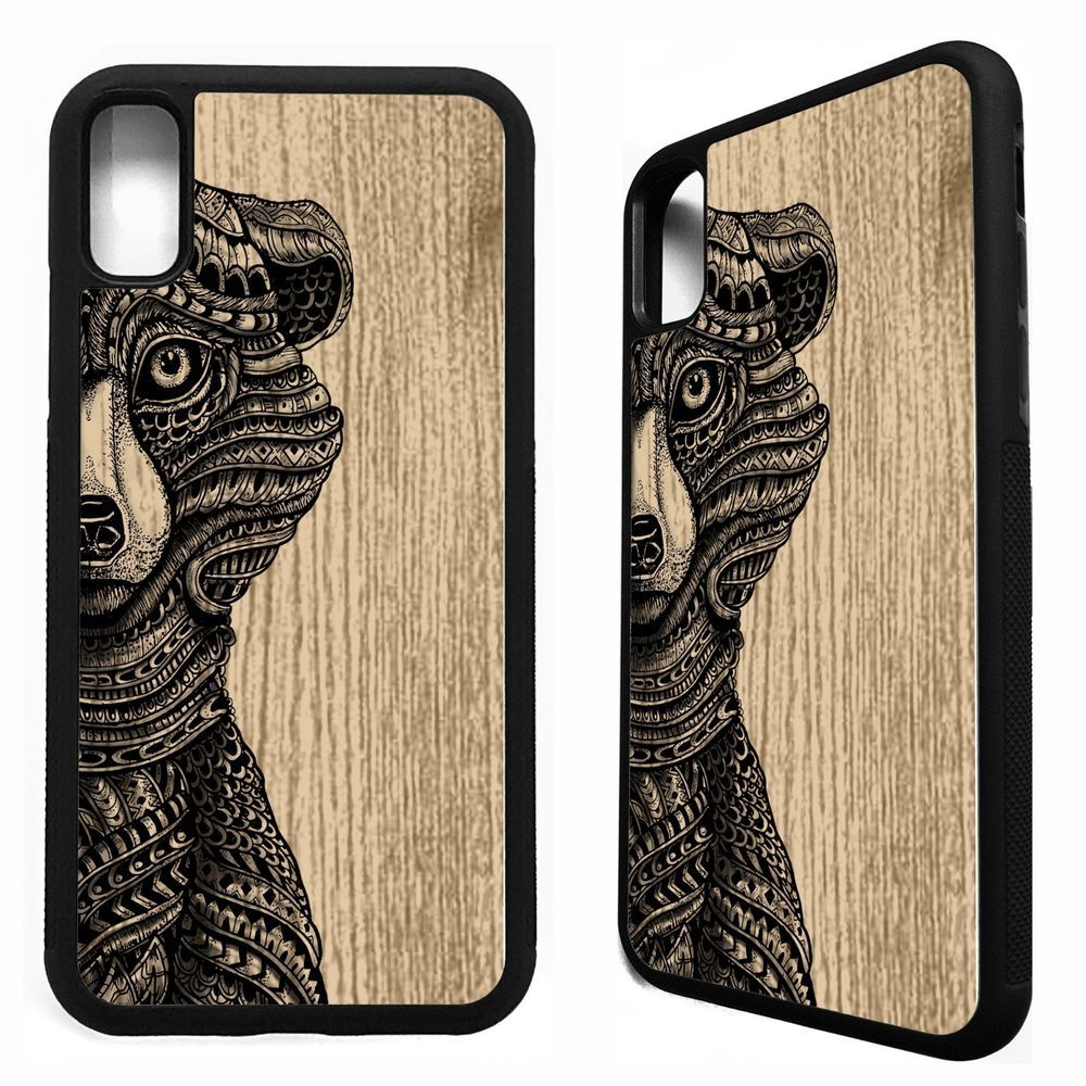 Grizzly bear head aztec tribal pattern art case cover for