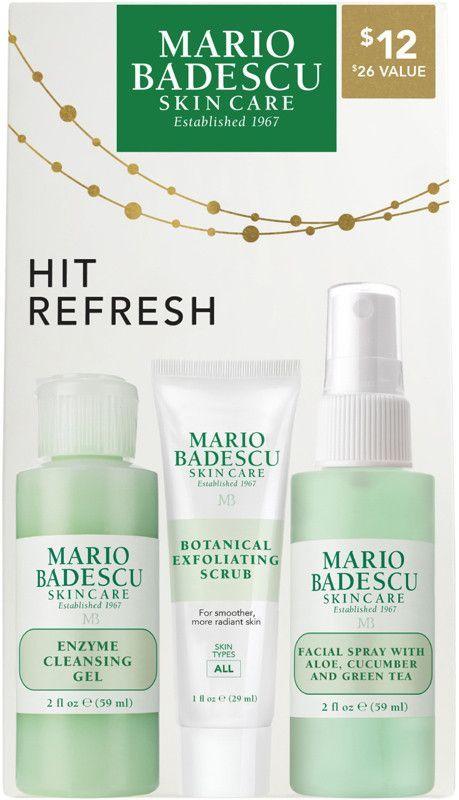 Mario Badescu Hit Refresh Set Cleansing Gel Exfoliating