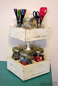 mason jar craft caddy build, diy, mason jars, repurposing upcycling, storage ideas, woodworking projects