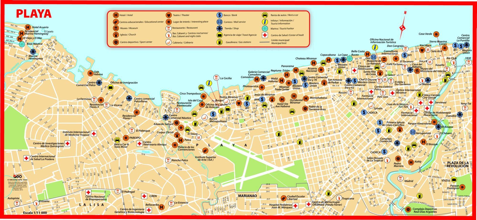 Plano de Playa La Habana 2011 CUBA Pinterest