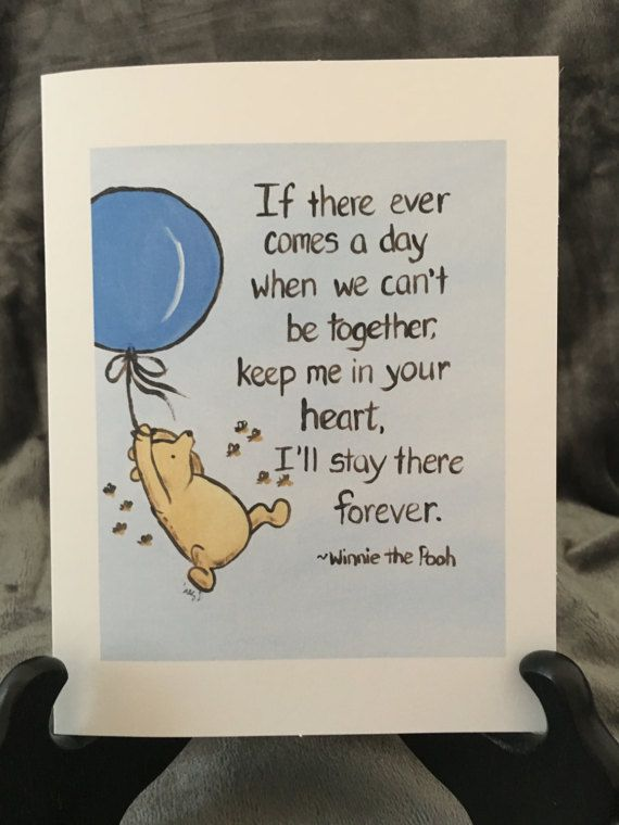 Thinking of you card classic winnie the pooh greeting card i love this beautiful greeting card note card is a print from my acrylic painting of classic winnie the pooh it has the quote if there ever comes a day when we m4hsunfo
