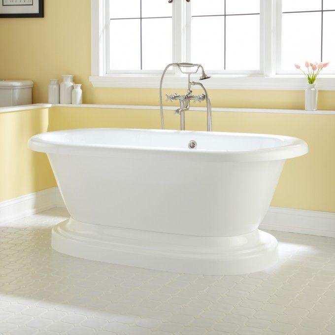 Avon Acrylic Pedestal Tub Bathrooms Pedestal Tub