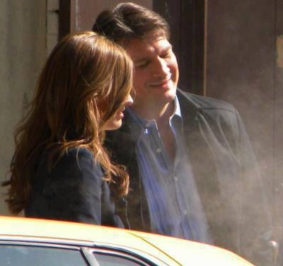 Stana and Nathan looking so freaking awesome