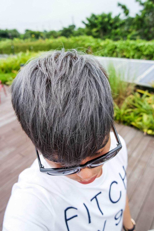 männer asche haar asiatische frisur dichte haare silber
