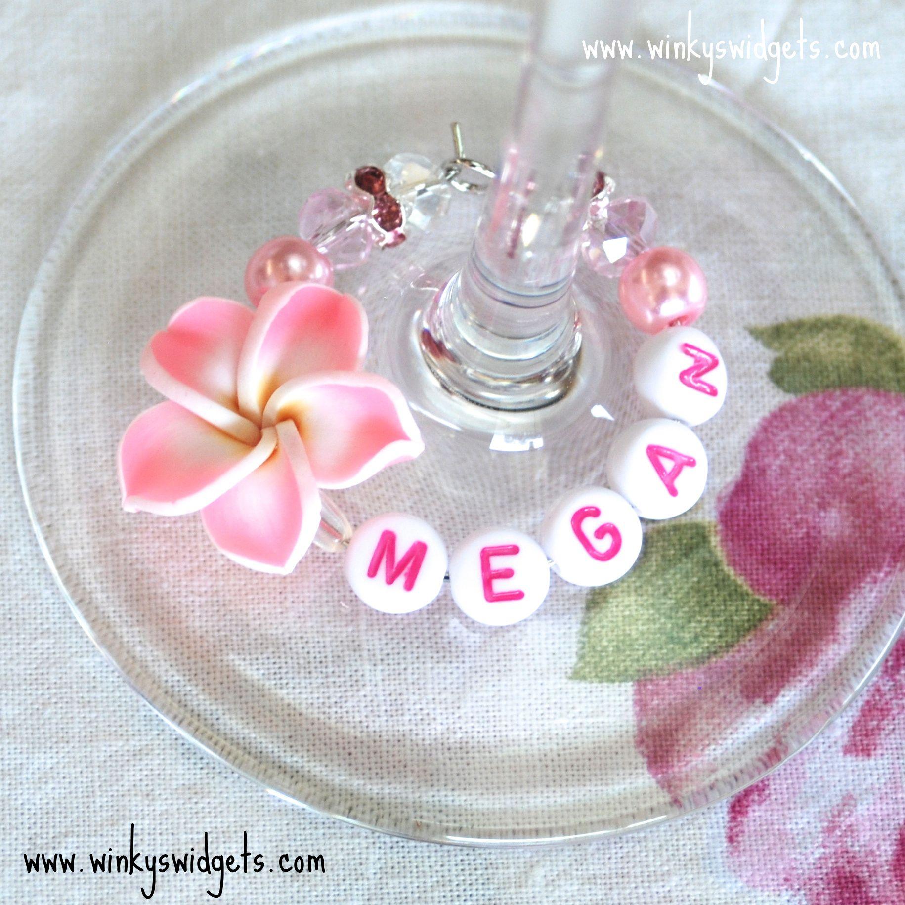 wedding #favours #wine #glass #charm from Winky\'s Widgets | Wedding ...