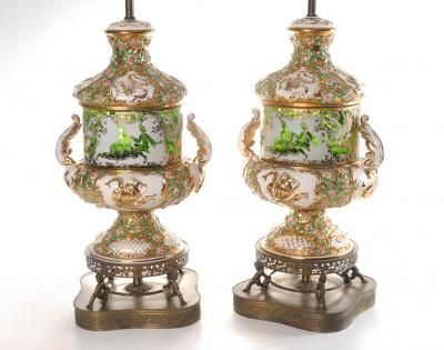 Pair capodimonte table lamps capo di monte appraisal values price guide pair capodimonte table lamps altavistaventures Image collections