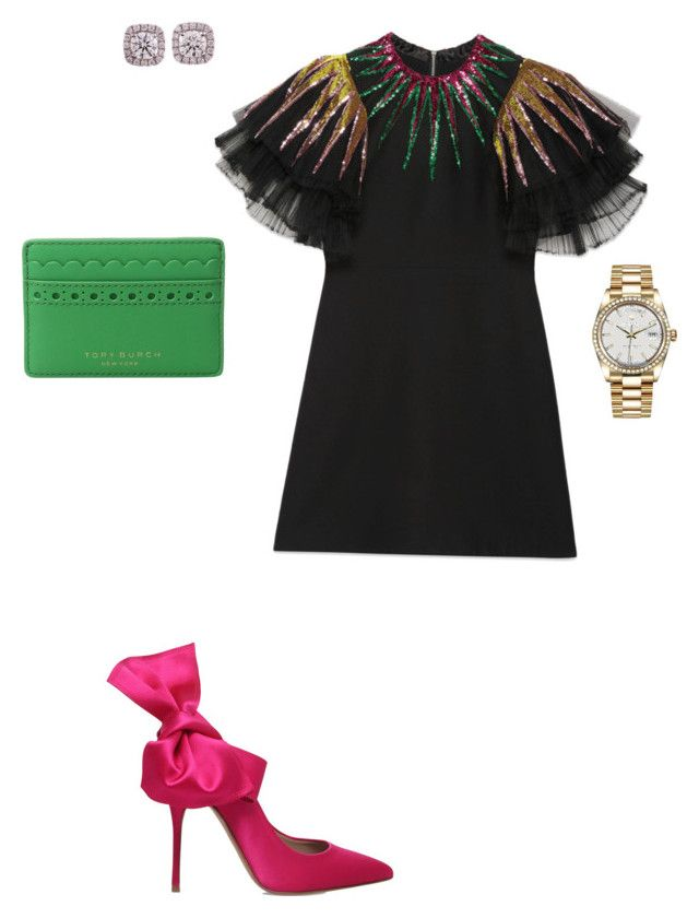 """""""Untitled #65"""" by millermo13 on Polyvore featuring Gucci, Kurt Geiger, Tory Burch and Rolex"""