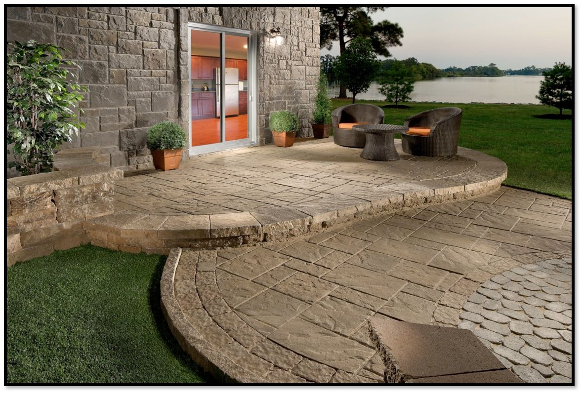 patio shapes and layouts woodbury cement products interlocking concrete pavers and