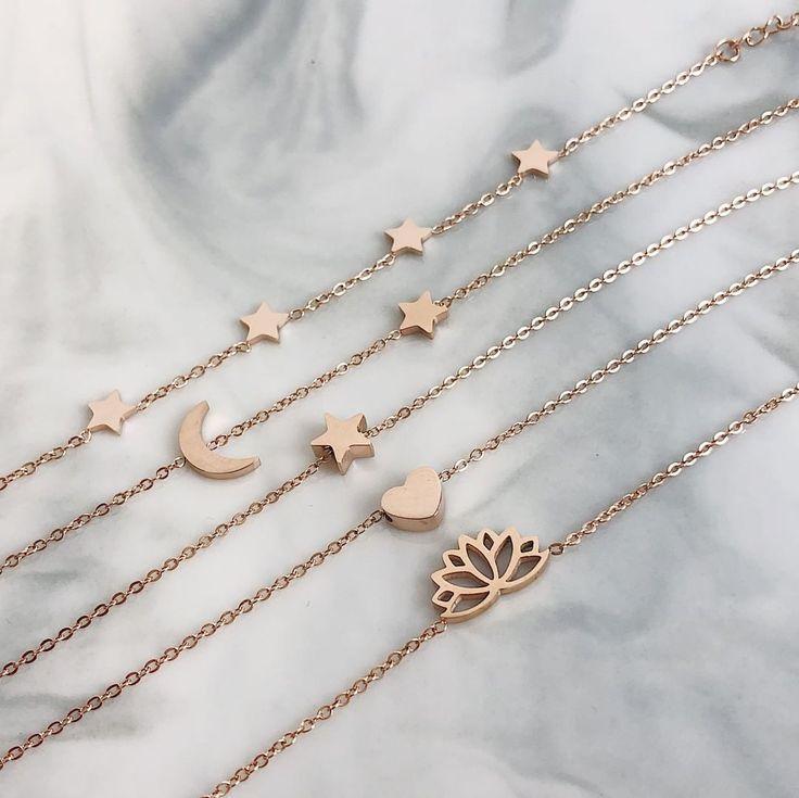 "Happiness Boutique on Instagram: ""Which bracelet? Tag a friend! 👉 {ref. #starsbracelet CBB201; #moonstarbracelet CBB192; #starbracelet CBB204; #heartbracelet CBB184;…"""
