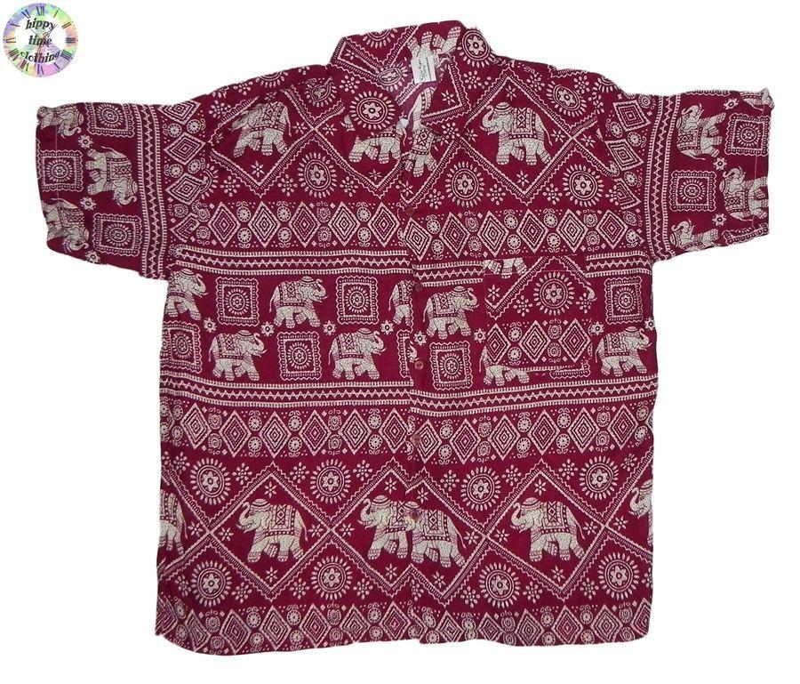 Thai Asian Handmade Psychedelic Sweatshirt Boho Hippy Festival Shirt M L