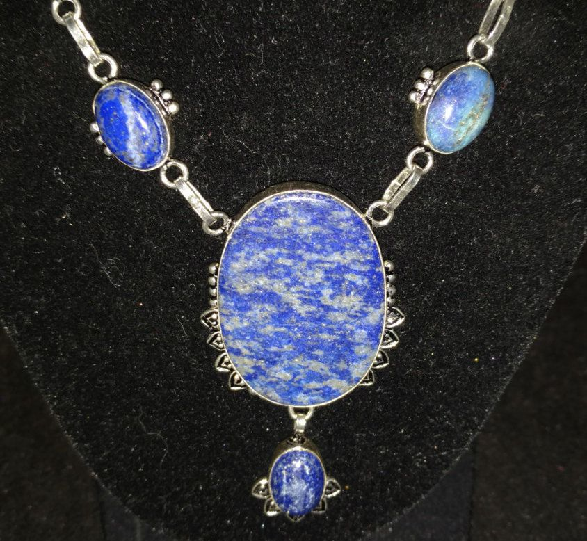Lapis Necklace by KarinsForgottenTreas on Etsy