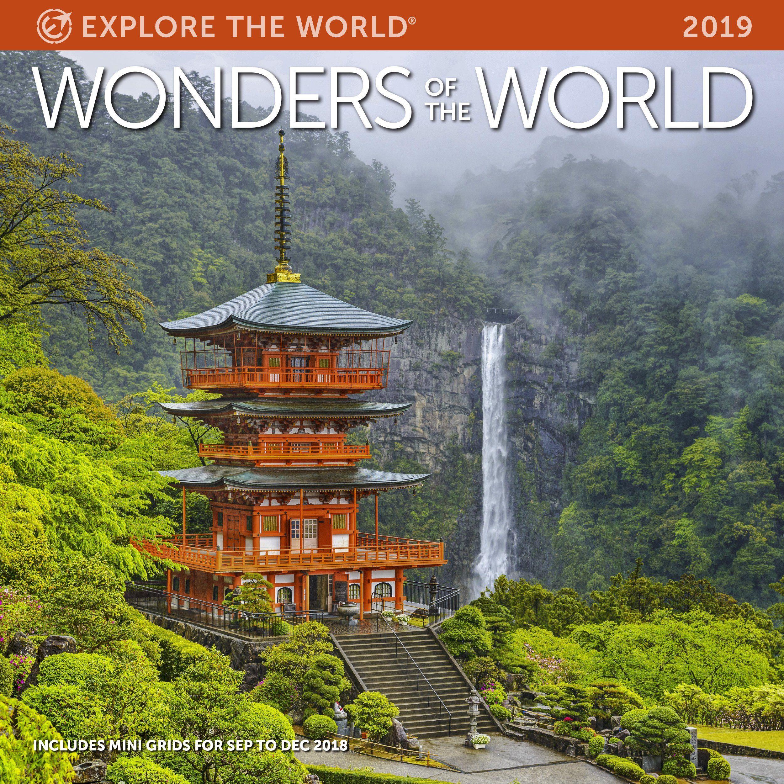 f4c73e7f5f2f8 Wonders of the World Wall Calendar 2019