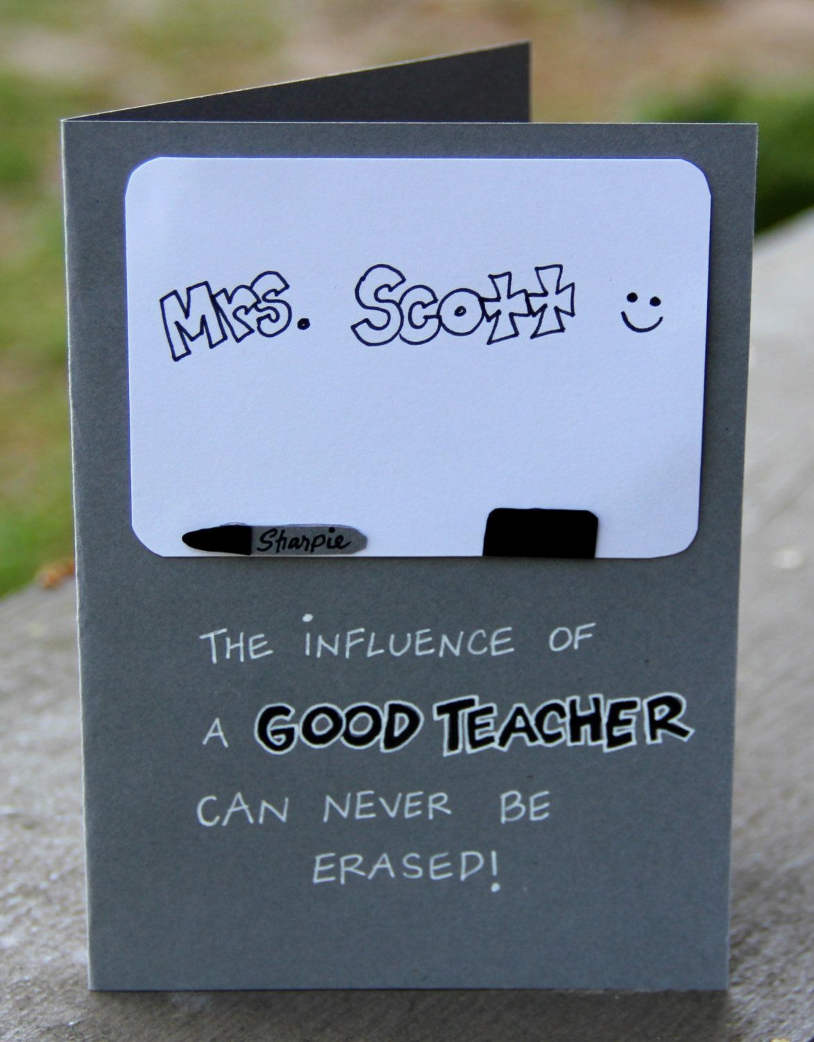 Teacher Appreciation Personalized Card - Permanent Impact #teachersdaycard