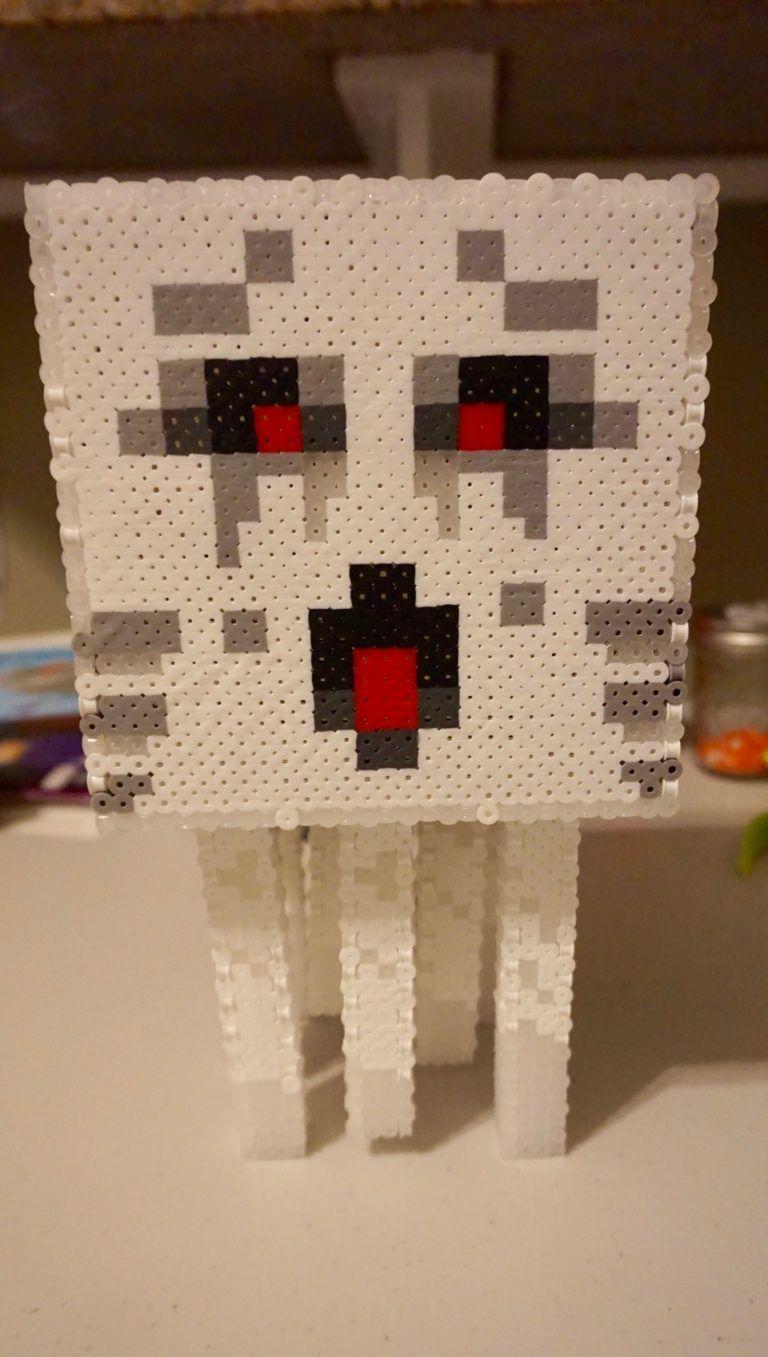 Minecraft Ghost Perler Bead Minecraft 3dflat Perler Bead