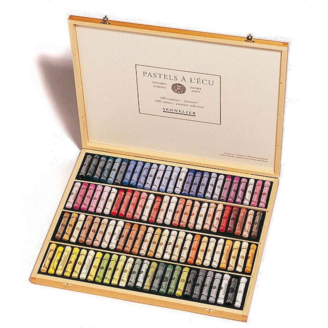 Sennelier Soft Pastels Portrait Set Wooden Box 100 Sticks Em 2020