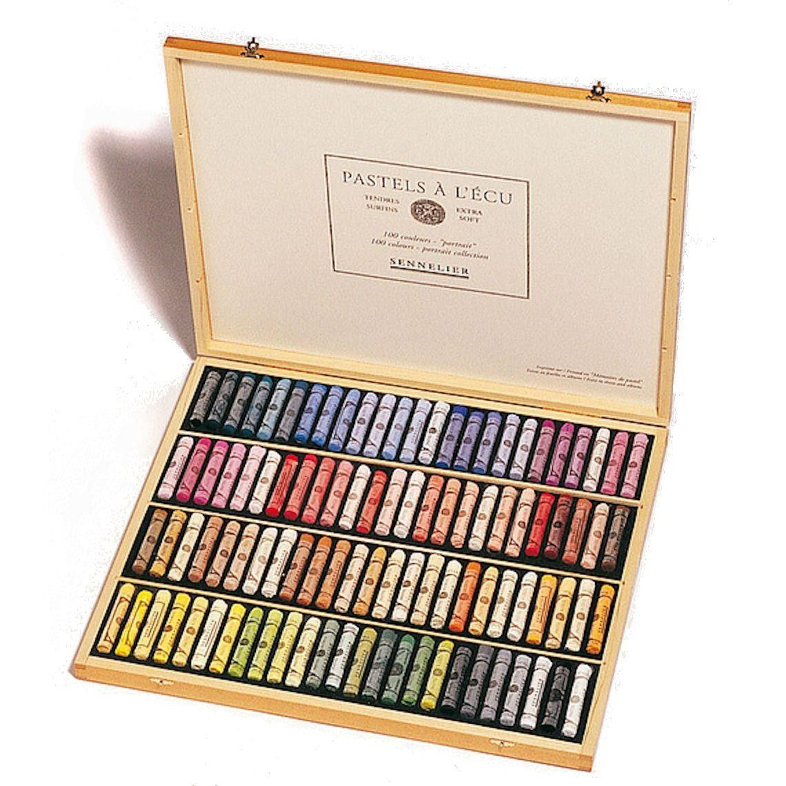 Sennelier Soft Pastels Portrait Set Wooden Box 100 Sticks Em 2020