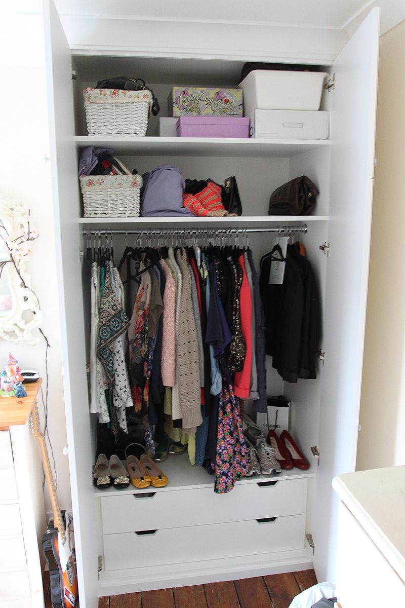 Small chest of drawers at bottom of wardrobe for extra ...