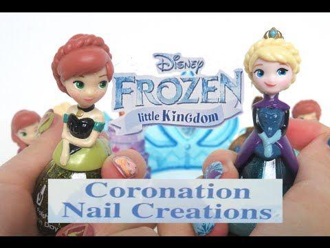 Disney Frozen Coronation Nail Creations 2016 by Celebnyc Toys -  Disney Princess Makeup Nail set - YouTube