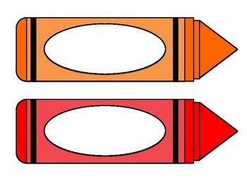 crayon label template - crayon name labels a kindergarten pinterest crayons