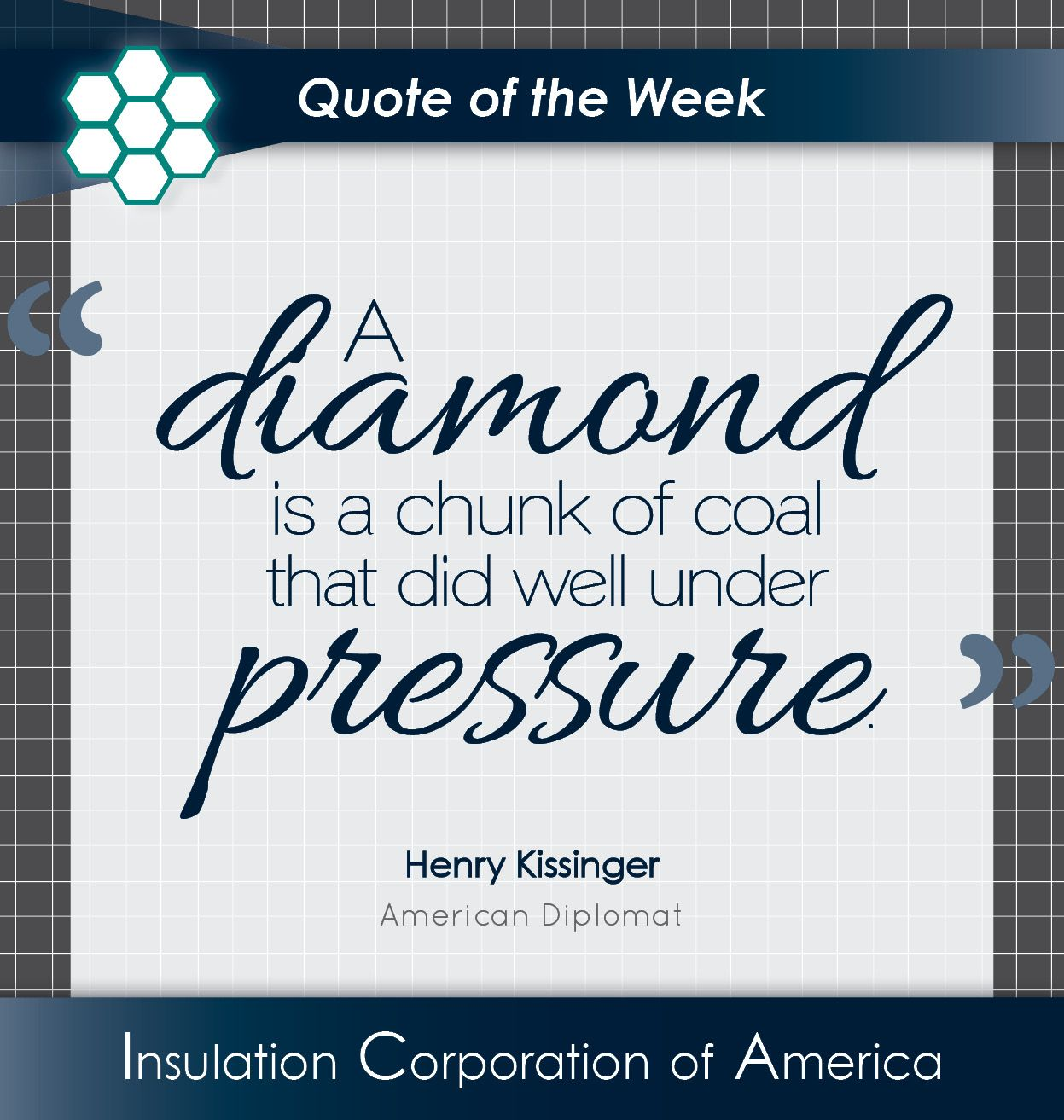 """Persistence Motivational Quotes: """"A #diamond Is A"""