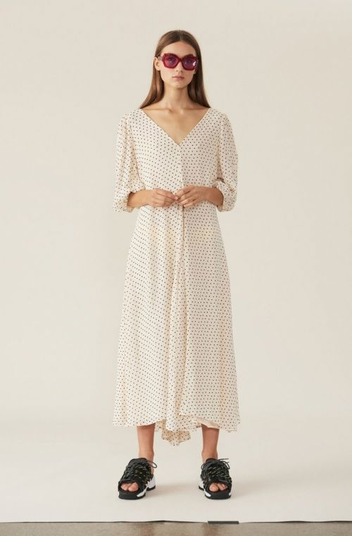 be9a62a7 GANNI | Elm Georgette Maxi Dress, Tapioca | Dresses - For her