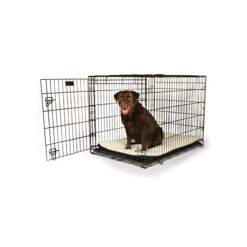 Petco Classic 1 Door Dog Crates 42 L X 28 W X 30 H Black Safe Secure And Affordable This Crate Comes Assembled Large Dog Crate Wire Dog Crates Dog Crate