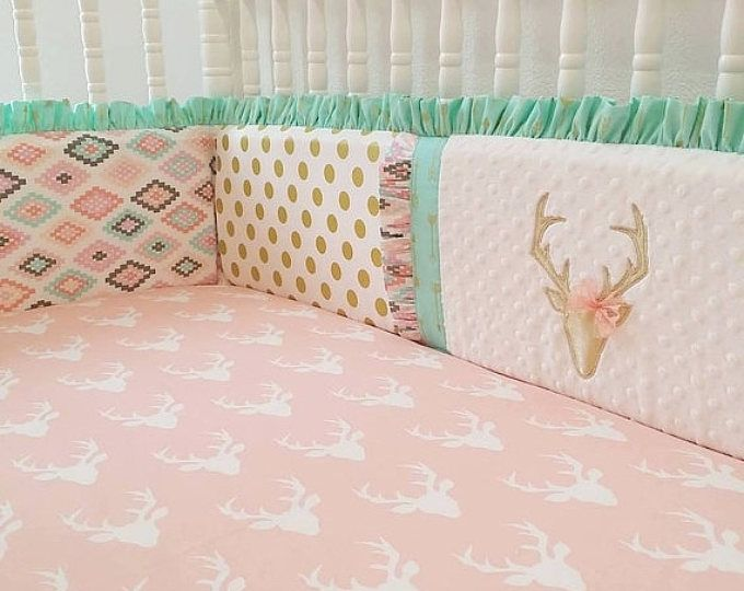 1bd6cb295f18b Boho Baby Quilt, Fox Crib Bedding Girl, Woodland Nursery Girl, Fawn ...