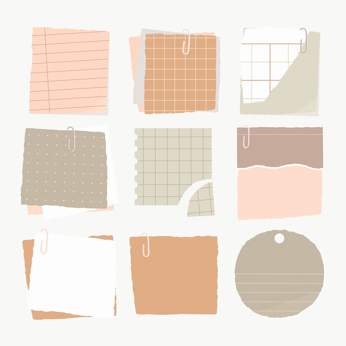 Torn Paper Note Collection Social Ads Template Transparent Png Free Image By Rawpixel Com Manotang Bullet Journal Stickers Note Paper Journal Stickers
