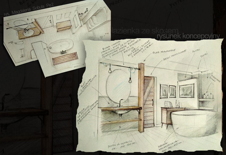 interior design sketch for the bathroom
