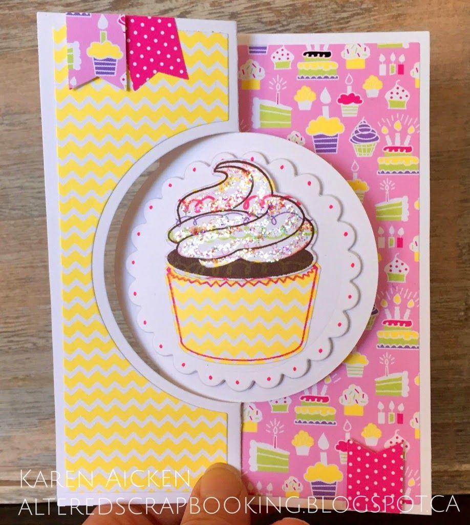 Cupcake Flip It Card Sizzix Cards Cards Handmade Happy