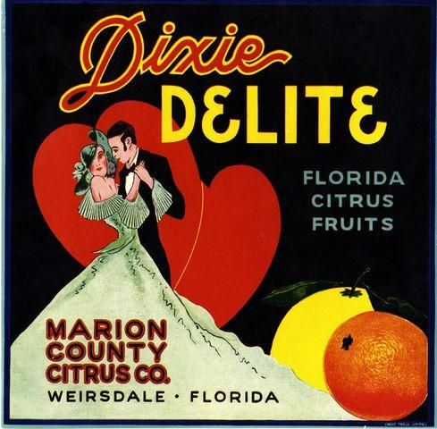 Frostproof Florida Mantilla Spanish Dancer Orange Citrus Fruit Crate Label Print